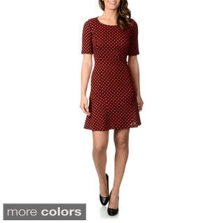 Lennie for Nina Leonard Women's Polka Dot Dress
