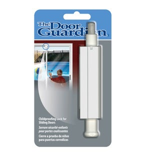 Patio Door Guardian Childproof Lock in White