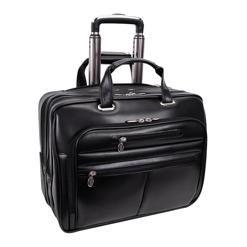 McKlein USA McKlein Wrightwood Black Wheeled 17-inch Laptop Case
