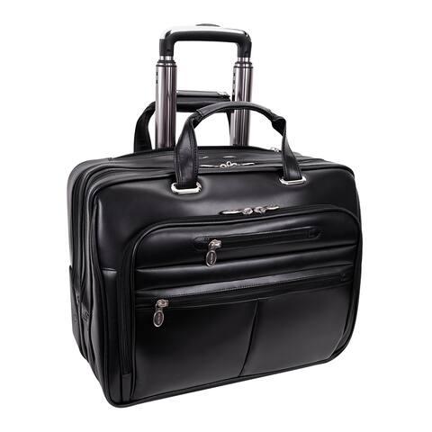 McKlein Wrightwood Black Wheeled 17-inch Laptop Case