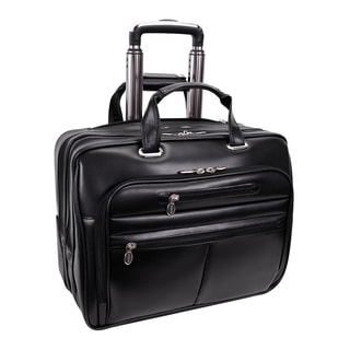 McKlein Wrightwood Black Wheeled 17-inch Laptop Case