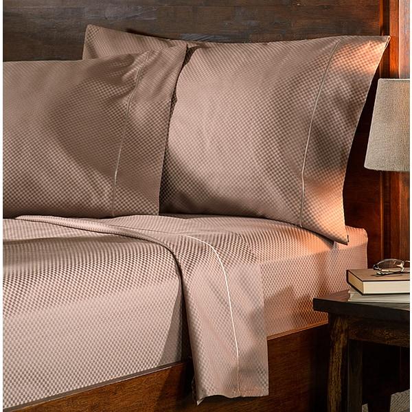 Superior 800 Thread Count Micro Checkered Cotton Blend Sheet Set