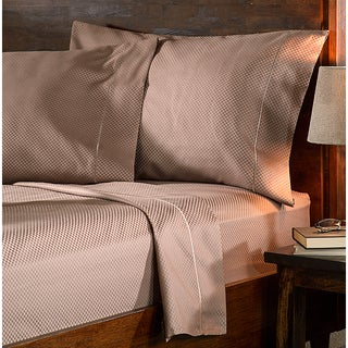 Superior 800 Thread Count Micro Checkered Cotton Blend Sheet Set