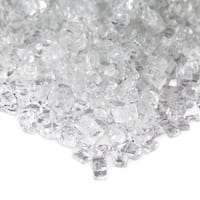 Real Flame Reflective Ice Clear Colored Fire Glass