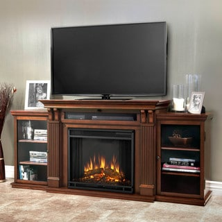 Real Flame Calie Dark Espresso 67 in. L x 18 in. D x 30.5 in. H Electric Fireplace Entertainment Center