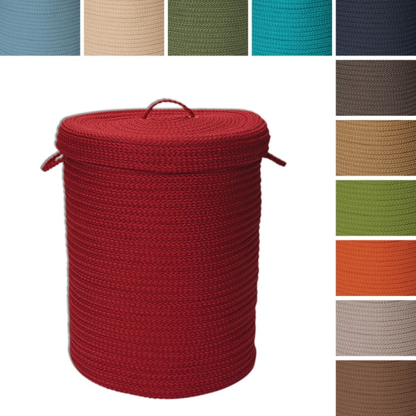 Savvy Textured Portable Lidded Storage Hamper   Free Shipping Today    Overstock.com   15945478