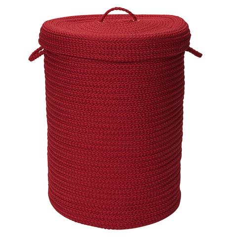 Savvy Textured Portable Lidded Storage Hamper