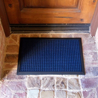 Rubber-Cal Nottingham Blue Carpet Mat (3' x 2')