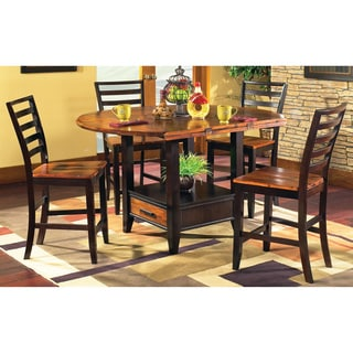 Greyson Living Acacia 5-piece Counter Height Lazy Susan and Storage Dining Set