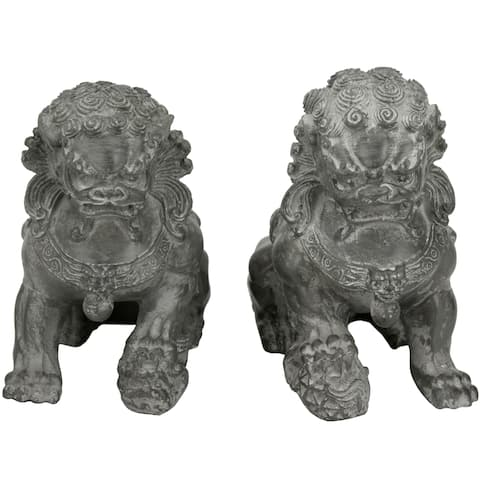 Set of 2 Sitting 6-inch Foo Dog Statues (China)