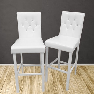 Warehouse of Tiffany's White Diamanta Bar Chair