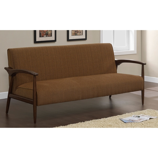 gracie retro chestnut sofa free shipping today. Black Bedroom Furniture Sets. Home Design Ideas