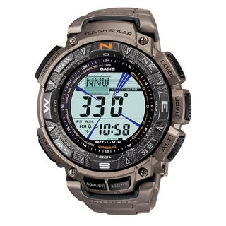 Link to Casio Men's CR Pathfinder Triple Sensor Multi-Function Titanium Watch Similar Items in Men's Watches