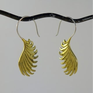 Handmade Winged Tribal Fusion Earrings (Indonesia)