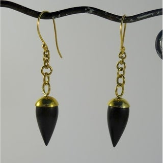 Handmade Golden Pendulum Earrings (Indonesia)