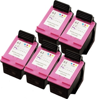 Sophia Global Remanufactured Ink Cartridge Replacement for HP 61 (5 Colors)
