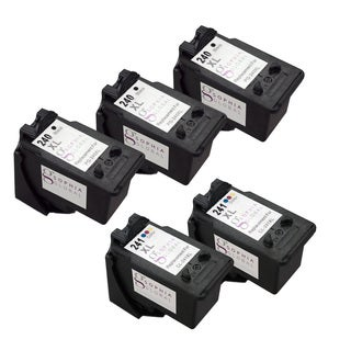 Sophia Global Remanufactured Ink Cartridge Replacement with Ink Level Display (3 Black, 2 Color)