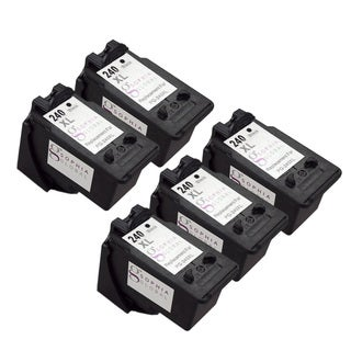 Sophia Global Remanufactured Ink Cartridge Replacement for PG-240XL with Ink Level Display (5 Black)
