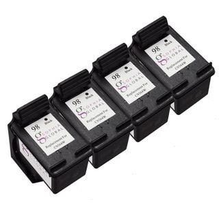 Sophia Global Remanufactured Ink Cartridge Replacement for HP 98 (4 Black)