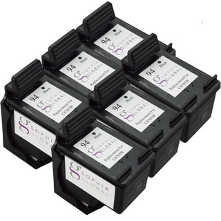 Sophia Global Remanufactured Ink Cartridge Replacement for HP 94 (6 Black)