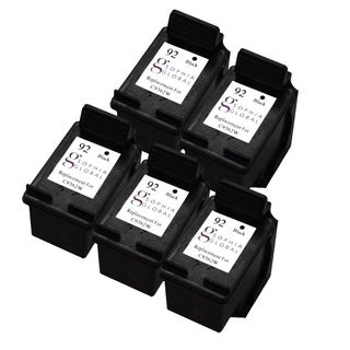 Sophia Global Remanufactured Ink Cartridge Replacement for HP 92 (5 Black)