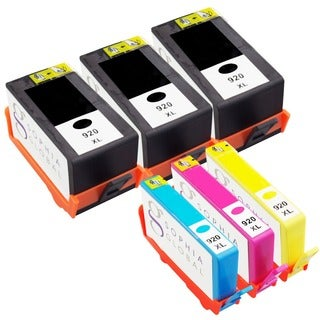 Sophia Global Remanufactured Ink Cartridge Replacement for HP 920XL (3 Black, 1 Cyan, 1 Magenta, 1 Yellow)