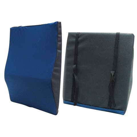 Drive Medical General Use Back Cushion with Lumbar Support - Black