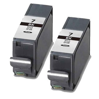 Canon PGI7Bk Black Compatible Ink Cartridge (Remanufactured) (Pack of 2)