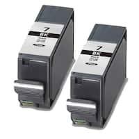 Canon PGI7Bk Black Compatible Ink Cartridge (Remanufactured) (Pack of 2)