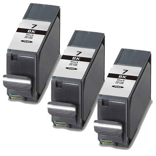 Canon PGI7Bk Black Compatible Ink Cartridge (Remanufactured) (Pack of 3)