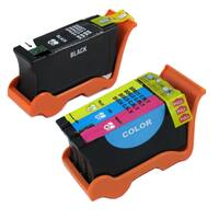 Dell Series 21 (Y498D / Y499D) Black and Color Compatible Ink Cartridge Set (Remanufactured) (Pack o
