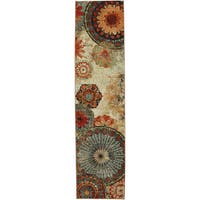 Porch & Den Park Circle Bexley Multicolor Medallion Runner Rug - 2' x 8'