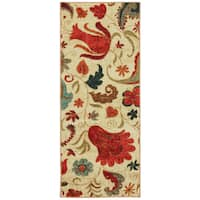 Clay Alder Home Bethany Paisley Runner - aqua/beige/brown/cherry/copper/raspberry/red