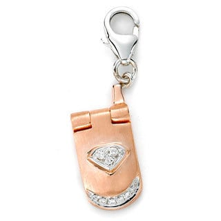 Diamonds For A Cure 14k Rose Gold Cell Phone Charm