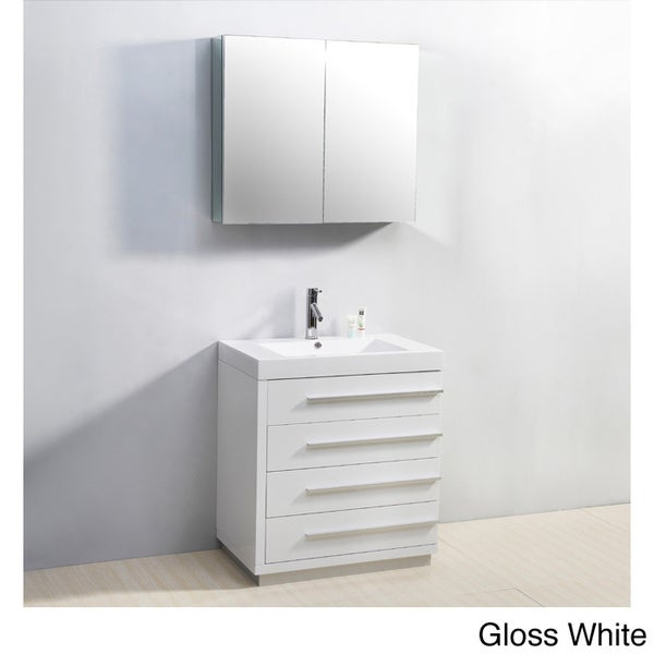 virtu usa bailey 30 inch single sink bathroom vanity set free