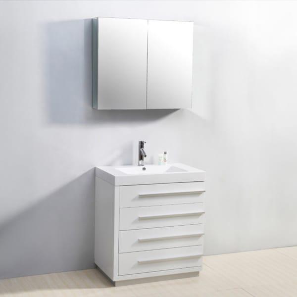 Virtu Usa Bailey 30 Inch Single Sink Bathroom Vanity Set Free Shipping Today