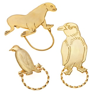 Detti Originals SPEC Seal/ Small Penguin and Large Penguin 3-piece Spectacle Brooch Set