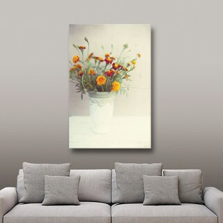 Elena Ray 'Flowers Classical Vase' Gallery-wrapped Canvas Art
