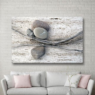 Elena Ray 'Still Life Sticks Stones' Gallery-wrapped Canvas Art