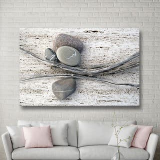 Elena Ray 'Still Life Sticks Stones' Gallery-wrapped Canvas Art|https://ak1.ostkcdn.com/images/products/8694427/P15946876.jpg?impolicy=medium