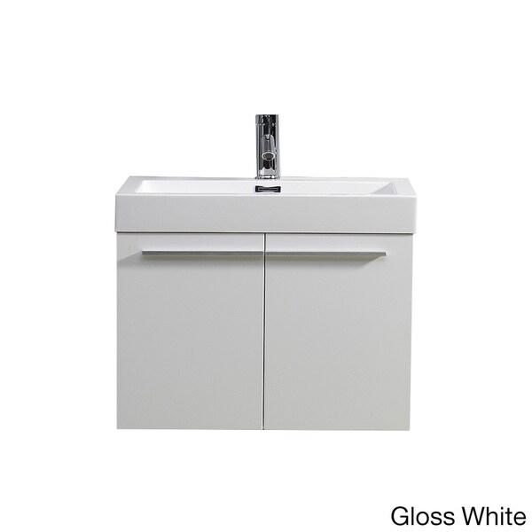 24 inch vanity with sink. Virtu USA Midori 24 inch Single Sink Bathroom Vanity  Free