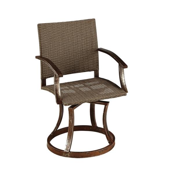 Shop Urban Wicker Outdoor Swivel Chair By Home Styles