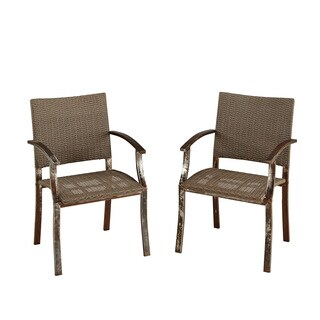 Home Styles Urban Outdoor Dining Chair Pair