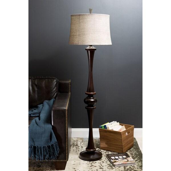 Marvelous 1-light Aged Bronze Floor Lamp