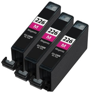 Canon CLI226 Magenta Compatible Inkjet Cartridge (Remanufactured) (Pack of 3)