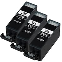 Canon PGI225 Pigment Black Compatible Inkjet Cartridge (Remanufactured) (Pack of 3)