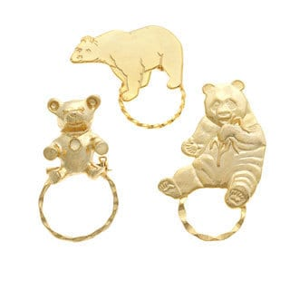 Detti Originals SPEC Bear Pins 3-piece Spectacle Brooch Set