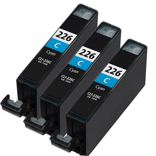 Canon CLI226 Cyan Compatible Inkjet Cartridge (Remanufactured) (Pack of 3)