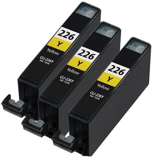 Canon CLI226 Yellow Compatible Inkjet Cartridge (Remanufactured) (Pack of 3)
