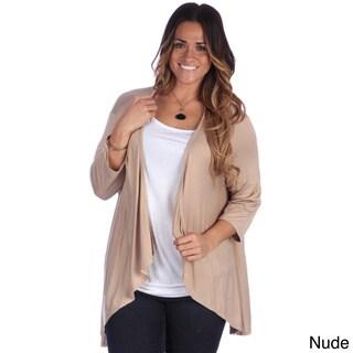24/7 Comfort Apparel Women's Plus Size Open Shrug